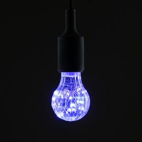 "Лампа светодиодная декоративная ""Груша"", A60, 3 Вт, E27, 105х60 мм, фиолетовый"