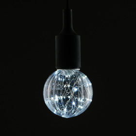 "Лампа светодиодная декоративная ""Шар"", G80, 3 Вт, E27, 105х80, белый"