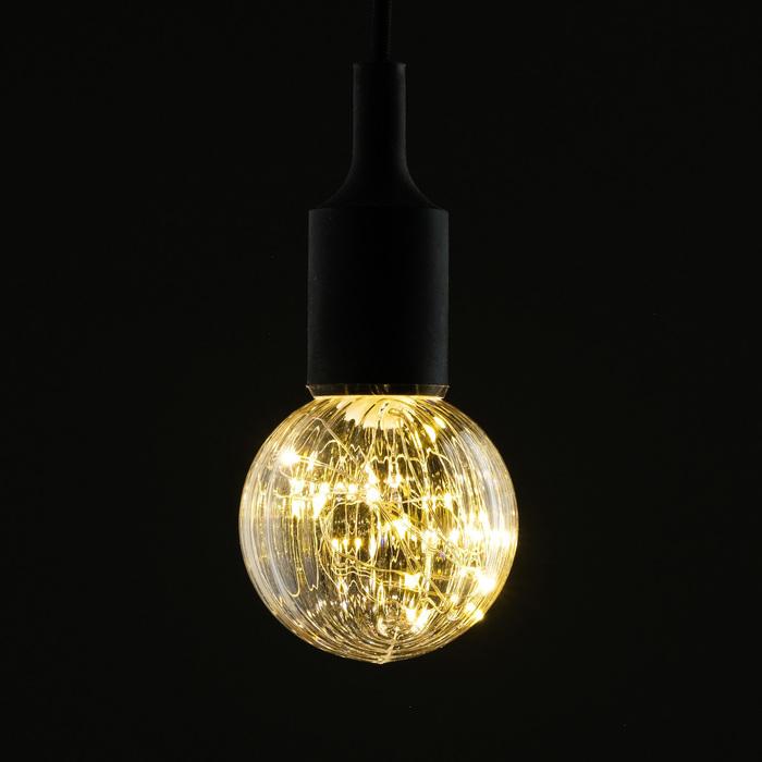"Лампа светодиодная декоративная ""Шар"", G80, 3 Вт, E27, 105х80, теплый белый"
