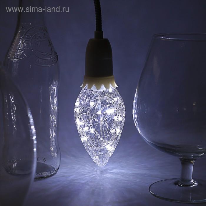 "Лампа светодиодная декоративная ""Шишка"" G85, 130 х 85 мм, Е27, 3 Вт, 230 В, Белый"