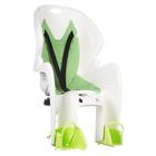 Велокресло заднее NFUN AMICO, крепление на багажник, цвет белый-зеленый