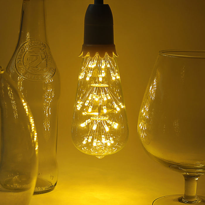 "Лампа светодиодная декоративная ""Ретро"", ST64, 3 Вт, E27, 100х30, теплый белый"