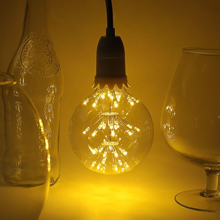 "Лампа светодиодная декоративная ""Шар"", G95, 3 Вт, E27, 135х95, теплый белый"