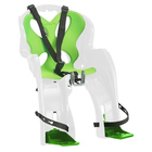 Велокресло переднее NFUN SIMPATICO, цвет белый-зеленый