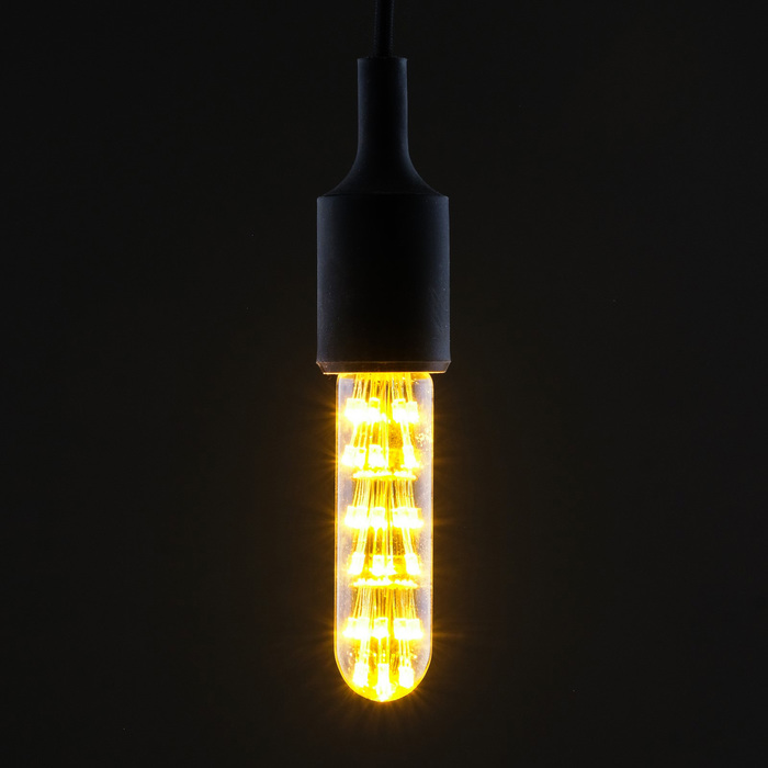"Лампа светодиодная декоративная ""Колба"", T125, 3 Вт, E27, 125х30, теплый белый"