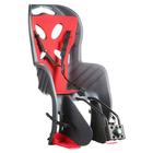 Велокресло заднее NFUN CURIOSO DELUXE, крепление на раму, цвет серый-красный
