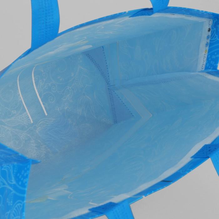 Сумка хозяйственная «Бантик», отдел без молнии, цвет синий