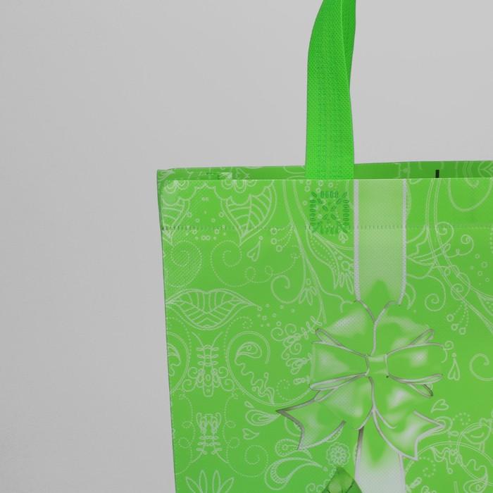 Сумка хозяйственная «Бантик», отдел без молнии, цвет зелёный