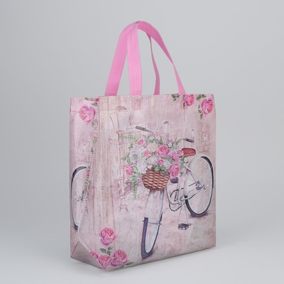 Bag shopping Department without a zipper, color pink