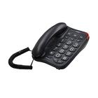 Телефон Texet TX 214, большие кнопки, черный