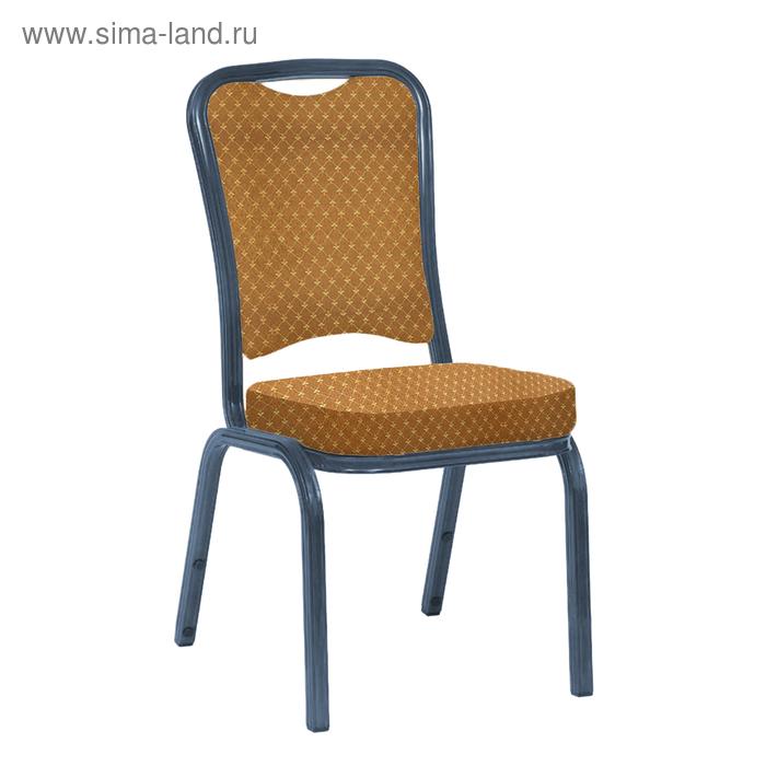 """Банкетный стул """"Сахара"""" 25 мм, каркас титан, обивка виолетта коричневая"""