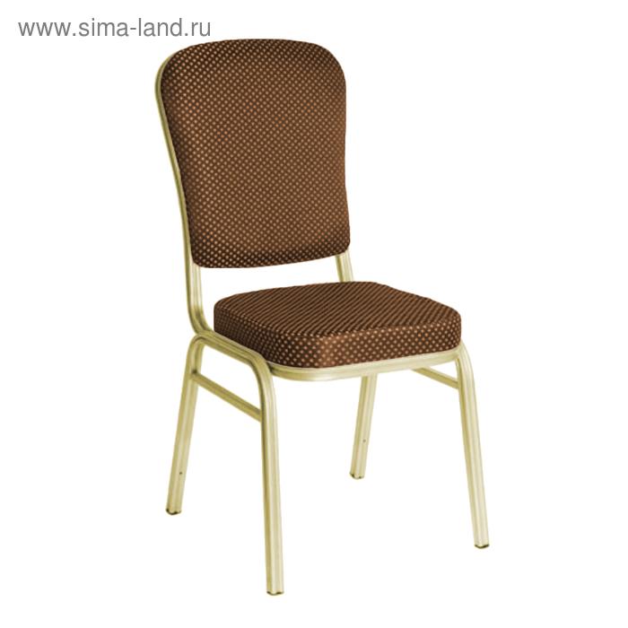 """Банкетный стул """"Боди"""" 25 мм, каркас шампань, обивка корона коричневая"""
