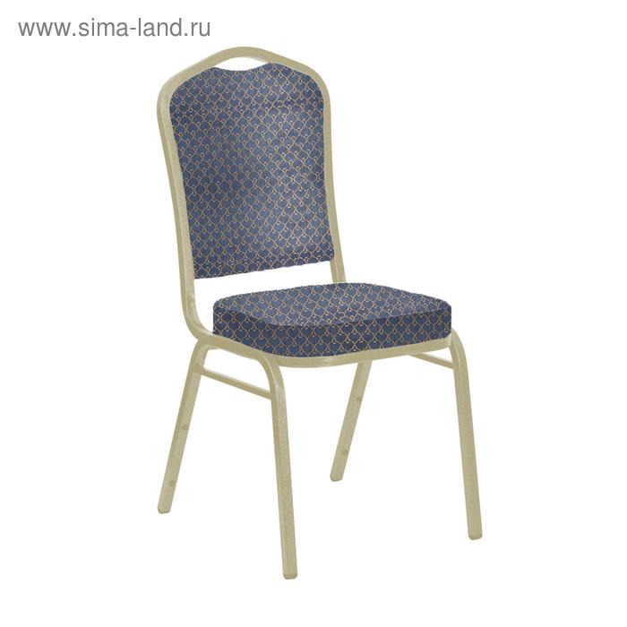 """Банкетный стул """"Молот"""" 20 мм, каркас шампань, обивка арш синий"""
