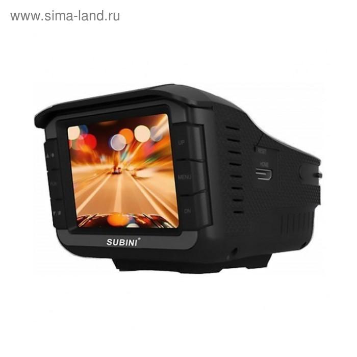 """Видеорегистратор + радар-детектор Subini STR XT-6, 2"""", обзор 120°, 1280x720"""