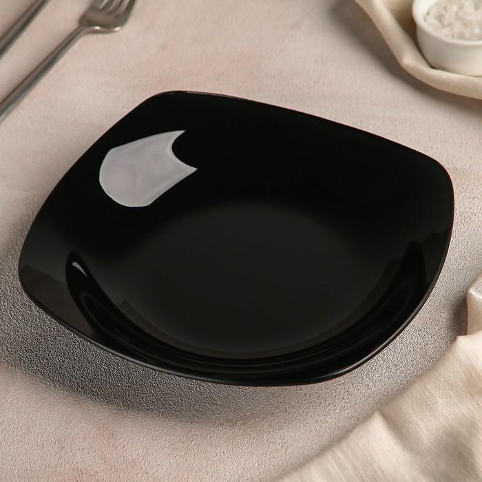 Тарелка 21,5х21,5 см, цвет черный
