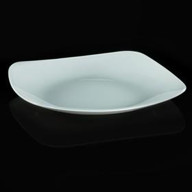 Тарелка 20,5х20,5 см, цвет белый