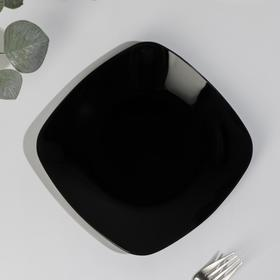 Тарелка 20,5х20,5 см, цвет черный