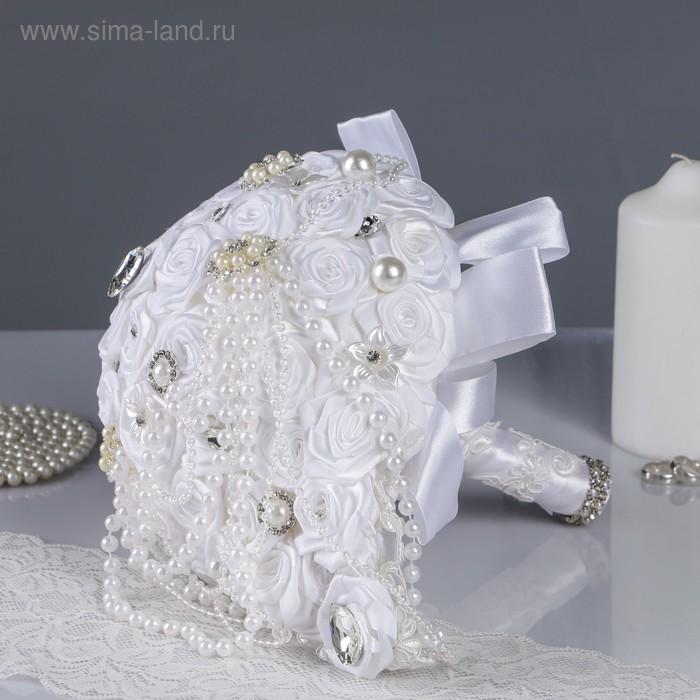 Свадебный букет, белый  27*30*24см