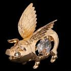 Сувенир «Свинка с крылышками», 5х4х5см, с кристаллами Сваровски