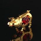 Сувенир «Свинка», 5×2×3 см, с цветными кристаллами Сваровски