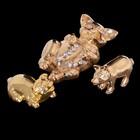 Набор «Семейка свинок», 3 шт, с кристаллами Сваровски