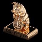 Сувенир «Свинка с монеткой», богатства, 4×2,4×4,3 см, с кристаллами Сваровски