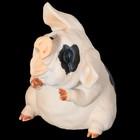 Сувенир «Зевающая хрюшка», 7,5×8×10 см, полистоун