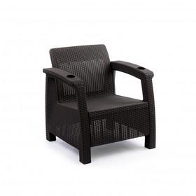 Кресло «Ротанг», 73 × 70 × 79 см, без подушки, цвет шоколад