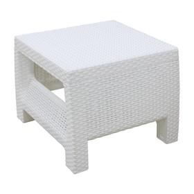 Стол «Ротанг», 57 × 51,5 × 42 см, белый