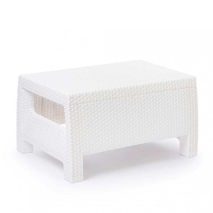 Стол «Ротанг», 76,5 × 57 × 42 см, пластик, белый