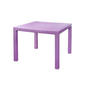 Стол «Ротанг», 94 × 94 × 74 см, тёмно-фиолетовый