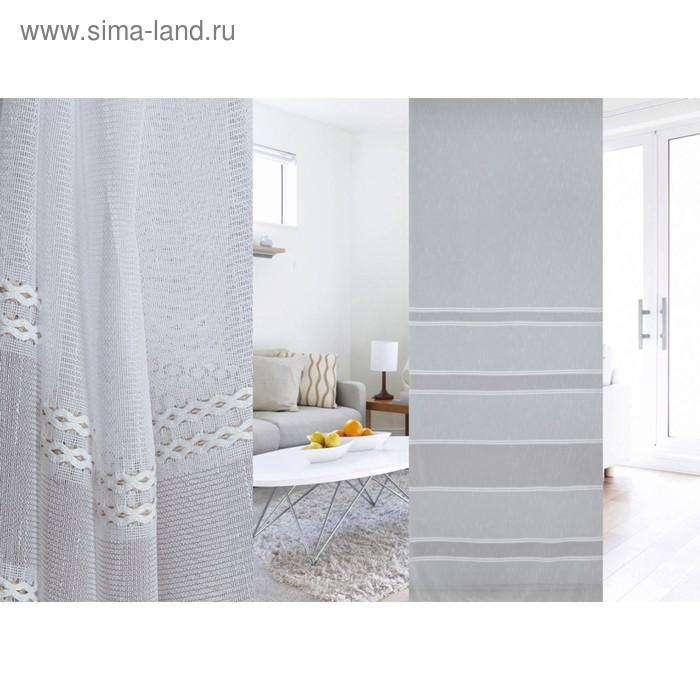 Ткань портьерная в рулоне, ширина 300 см, лён 97431