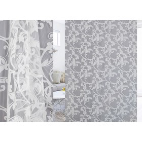 Ткань тюлевая Lamella в рулоне, ширина 280 см, органза, деворе 93738 Ош