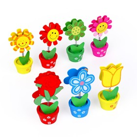 """Business card holder-clip """"Flower meadow"""", MIX colors"""