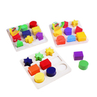 """Puzzle game """"Learn colors and shapes"""", 9 three-dimensional shapes, MIX"""