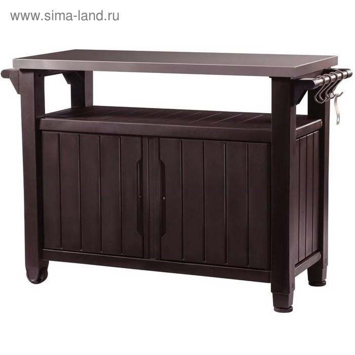 Столик для барбекю UNITY XL 183 L, 120 х 55 х 38 см, цвет коричневый