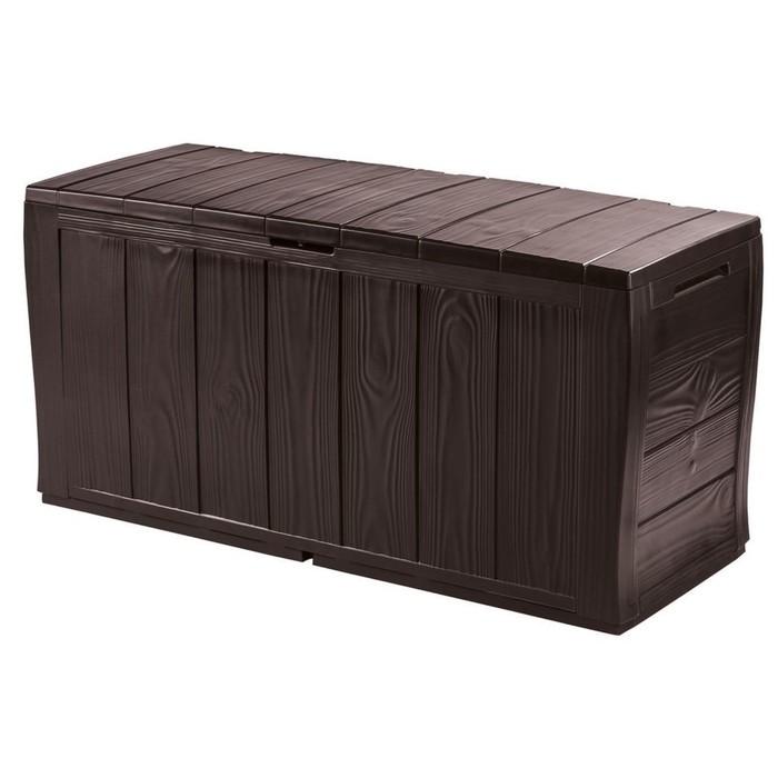 Сундук Sherwood Storage Box, 270 л, пластик, коричневый