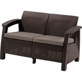 Диван Corfu (Love Seat ) (кор. серая подушка)