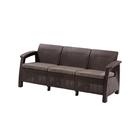 Диван Corfu Love Seat Max, 3-местный, 180 × 70 × 80 см, искусственный ротанг, коричневый