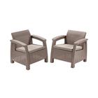Набор мебели Corfu Duo Set, 2 предмета: 2 кресла, искусственный ротанг, цвет капучино