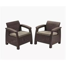 Комплект мебели Corfu Duo set: два кресла, цвет коричневый