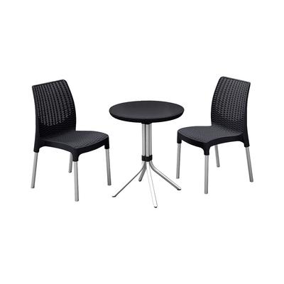 Комплект мебели Chelsea set: стол, два стула, цвет графит