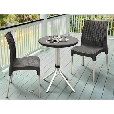 Комплект мебели Chelsea set: стол, два стула, цвет коричневый