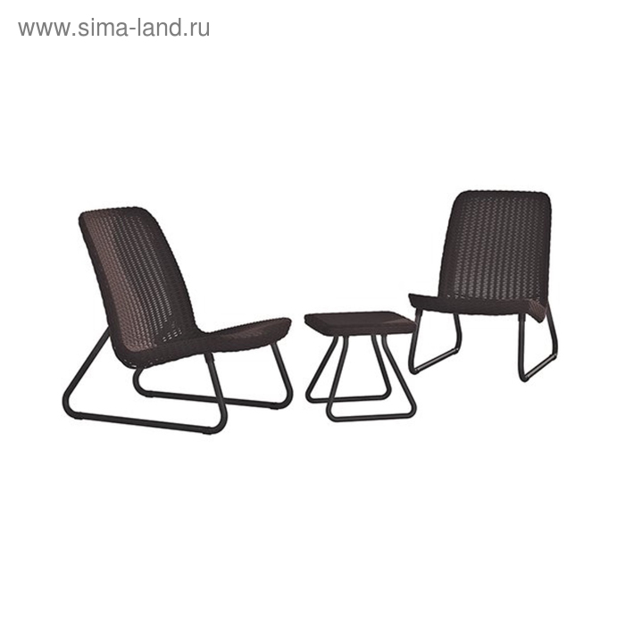 Комплект мебели Rio Patio: стол, два кресла, цве коричневый