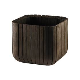 Кашпо Wood Planter L, 40 × 40 × 40 см, коричневое