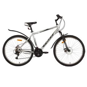 """Велосипед 26"""" Foxx Atlantic D, 2018, цвет серый/красный, размер 20"""""""