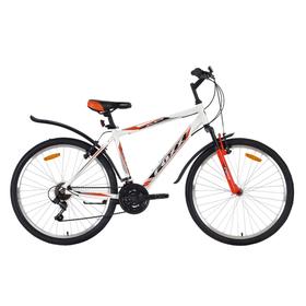 """Велосипед 26"""" Foxx Atlantic, 2018, цвет белый/красный, размер 18"""""""
