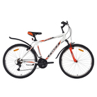 """Велосипед 26"""" Foxx Atlantic, 2018, цвет белый/красный, размер 20"""""""