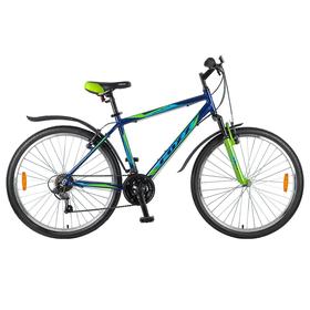 """Велосипед 26"""" Foxx Atlantic, 2018, цвет синий/зеленый, размер 20"""""""