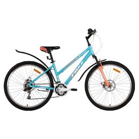 """Велосипед 26"""" Foxx Bianka D, 2018, цвет голубой/розовый, размер 17"""""""